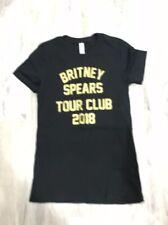 BRITNEY SPEARS Tour Club 2018 T Shirt Black M Medium Concert