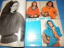 Vintage 1980 Knit Crochet Sweater Patterns Men Women Children Arans Jackets