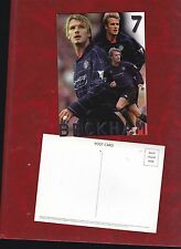 David Beckham a Manchester United Blu Navy KIT cartolina circa 2001
