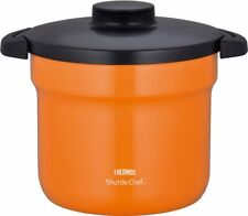 THERMOS Thermal Cooker Shuttle Chef 4.3L Orange Vacuum Cooking Pot Japan Import