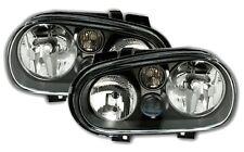 PHARES FEUX AVANT GLACE LISSE NOIR CRISTAL VW VOLKSWAGEN GOLF 4 GTI SDI TDI 90 1