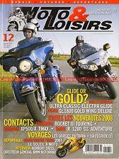 MOTO LOISIRS 2007-12 BMW R1200 GS HONDA GL 1800 HARLEY DAVIDSON 1584 FLHTCU