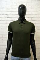 Polo Maglia Uomo TOMMY HILFIGER Taglia S Slim Maglietta Shirt Cotone Verde Hemd