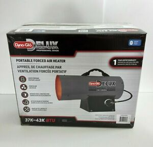 Dyna-Glo Delux Heater 37K - 43K BTU Propane LP, New in Box, Forced Air Heater