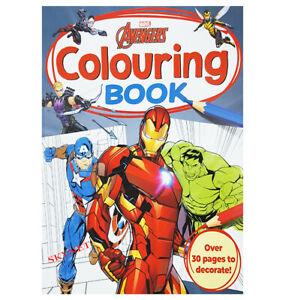 MARVEL AVENGERS CHILDRENS KIDS COLOURING BOOK - 30 PAGES  Activity Fun