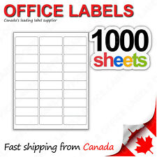 1000 Sheets of Address Labels 1'' x 2-5/8'' 30up 30000 Labels FBA