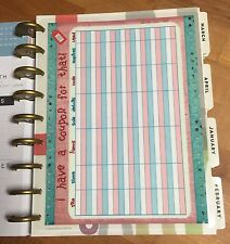 Coupon/Wish List Two-Sided Dashboard for use with Happy Planner