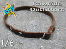 1/6 High Sierra Brown Genuine Leather Belt with Chrome Buckle