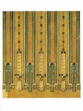 Postcard Frank Lloyd Wright Rug Design for Avery Coonley House Riverside Il Mint