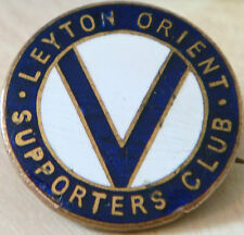 LEYTON ORIENT FC Rare vintage SUPPORTERS CLUB badge Brooch pin 26mm Dia