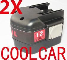 2 Batteries For AEG MILWAUKEE 12V A Drill 3.0Ah Heavyduty 48-11-1900 MXL12 OZ