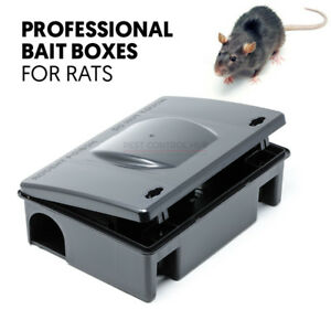 Professional Rat Bait Station Box for Trap or Grain Pasta Block Rodent Poison