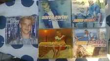 5 x Aaron Carter CDs Single collection I want candy crush on you aarons party
