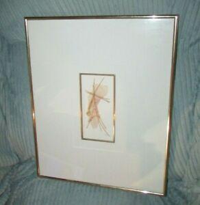 CHERYL KABALA SCULPTURAL ART PICTURE HANDMADE RICE PAPER GEMSTONES ABSTRACT