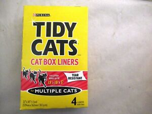 NOS PURINA TIDY CATS CAT BOX LINERS FOR MULTIPLE CATS *4 LINERS IN BOX*FREE SHIP