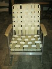 Vintage Webbed Aluminum Rocking Lawn Chair/Rocker