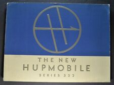 1933 Hupmobile 322 Prestige Catalog Sales Brochure Excellent Original 33
