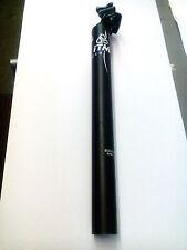 Reggisella ITM Alutech. 7075 31.6 x 350mm. Nero. NUOVO Venditore Regno Unito.