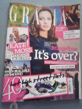 Magazine GRAZIA  Anglais Angelina JOLIE et Brad PITT / Kate Moss Avril 2009