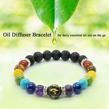 7 Chakra Bracelet Crystals Healing Stones Beads Jewellery Mala Reiki Anxiety