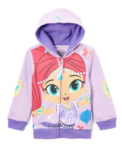 NEW Shimmer & Shine Girls Hooded Sweater Hoodie Jacket 3T