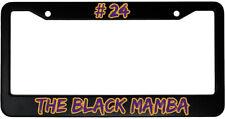 The Black Mamba Aluminum Car License Plate Frame