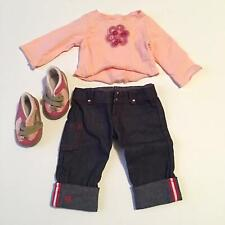 American Girl Place Pink Flower Shirt and Jeans (A05-15)