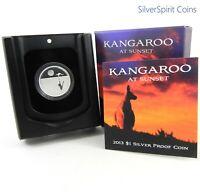 2013 KANGAROO AT SUNSET Silver Proof Coin