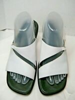 Clarks Womens Sandals Size 9 M White leather Style 70895 Open Toe #B