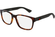 NEW Authentic GUCCI Mens Havana Matte Brown Rubber Eye Glasses Frame GG0011O 002
