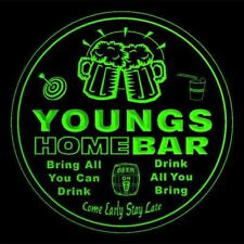 4x ccq49446-g YOUNGS Home Bar Ale Beer Mug 3D Etched Drink Coasters