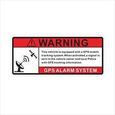GPS Anti Theft Vehicle Security Warning Alarm Vinyl Sticker Decal Self Adhesive