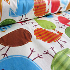"Multi birds  100% cotton print fabric for sewing & crafts -  per 1/2m 60"" wide"