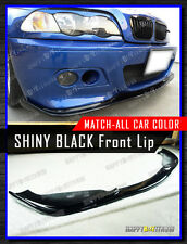 IN STOCK 01-06 PAINTED GLOSSY BLACK BMW E46 M3 H type FRONT BUMPER LIP SPLITTER