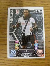 "2013/2014 AUTOGRAFO: Fulham-rodallega, Hugo [firmato a mano ""TOPPS MATCH ATTAX 'T"