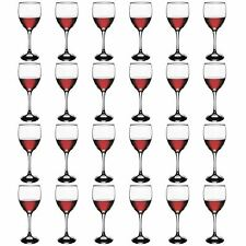 Red Wine Glasses Drinking Glass Set, 245ml - Party Pack of 24