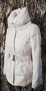 ESPIRIT Ivory 50% down 50% feather Padded Puffer Jacket UK 8 Coat Winter