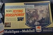 Vintage World War II Mobil Aviation Gasoline Magazine Advertisement Ad
