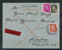 Deutsches Reich, Eilbrief MiNr. 435 + 417 + 466 Friedberg 04.07.1932