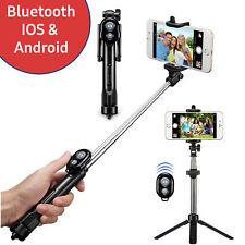 Selfie Stick Bluetooth Stativ Teleskop Stange Selbst Auslöser Handy Tripod 360°