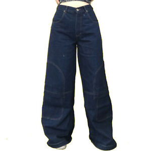 NEW Ladies Girls Mens Vintage Wide Leg 90s Baggy Skater Jeans Denim Trousers Y2K