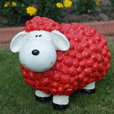 Schaf bunt, rot, Dekofigur, Gartenfigur, Dekoration, Terrasse, modern, Ostern