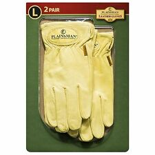 Plainsman 2 Pair Premium Cabretta Size LARGE Leather Gloves