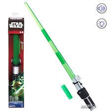 Star Wars YODA ELECTRONIC Lightsaber BLADEBUILDERS Sound Light Hasbro