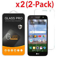 2-Pack Tempered Glass Screen Protector Guard for LG X Charge Cricket