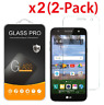 2-Pack Tempered Glass Screen Protector Guard for LG X Power 2 / LG Fiesta LTE
