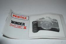 Vintage Pentax Winder ME II Camera Owners Manual