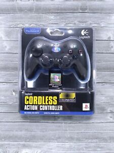 Logitech Cordless Action Wireless Controller for PS2 PlayStation 2 Open Box