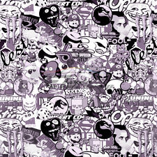 Sticker Bomb Vinyl Wrap Decal Film Graffiti Cartoon Anime Jdm Usdm Sheet Diy
