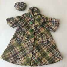 Attractive Swing Coat + Hat - ruler in photos - vintage dolls clothes